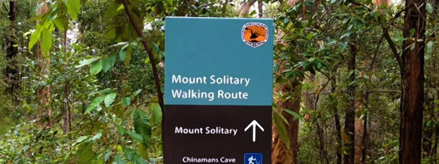 Trail Running Australia Mount Solitary Sign