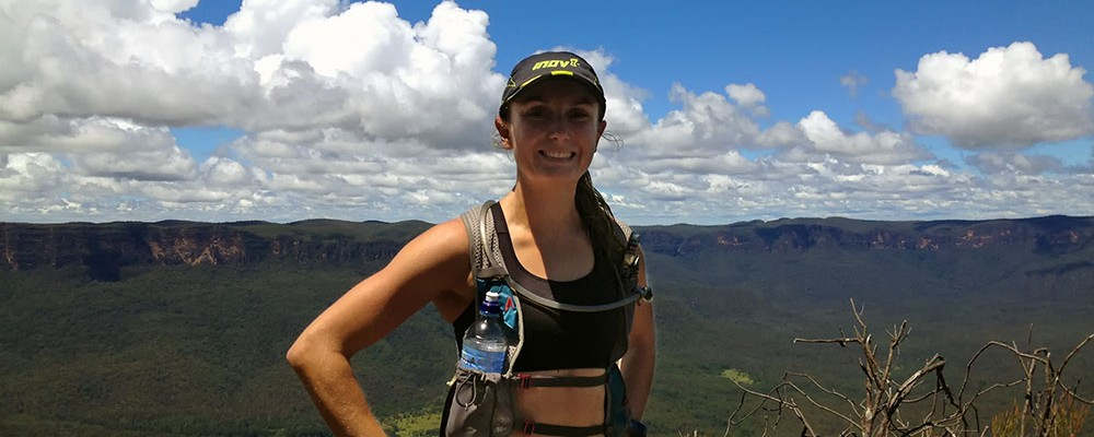 Trail Runner Shona Stephenson at Mount Solitary