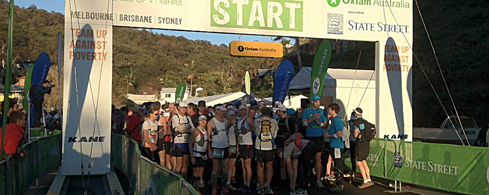 Oxfam Trailwalker Sydney 2012 start of the race Shona Stephenson