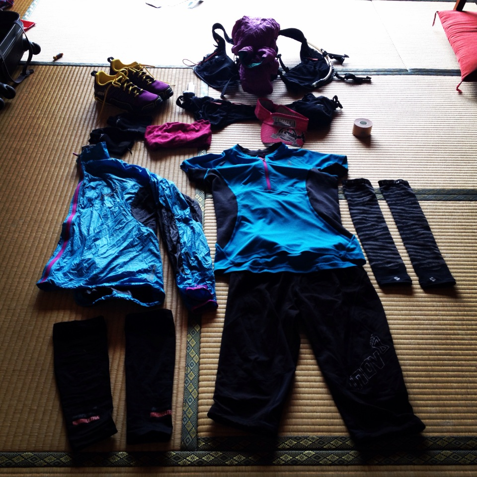 Shona Stephenson inov-8 UTMF gear set Up