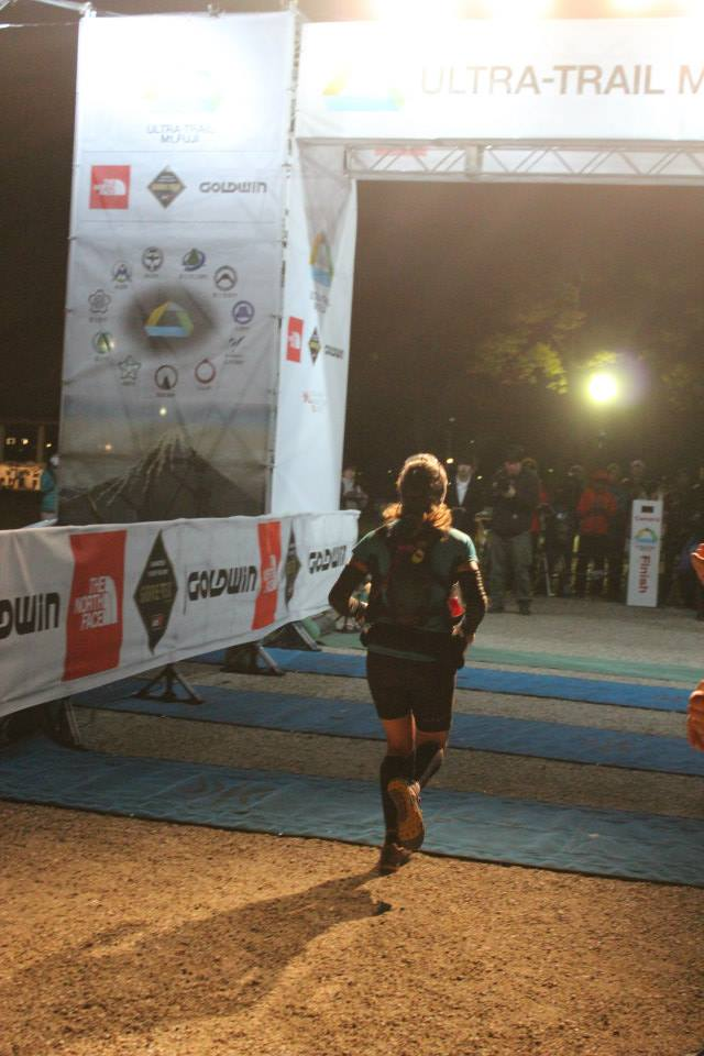 Shona Stephenson finishing in 6th Place at the UTMF