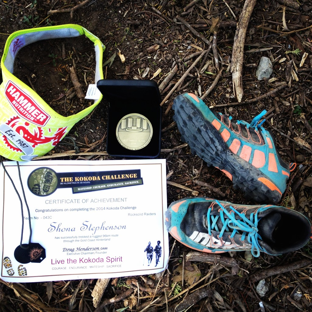 Shona Stephenson Kokoda Challenge awards for Rocksolid Raiders