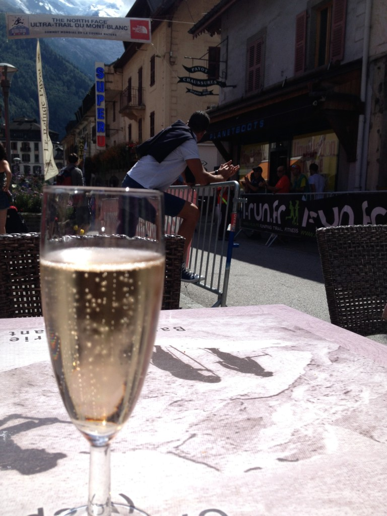 Celebrating my 10th place at the Ultra Trail du Mt Blanc