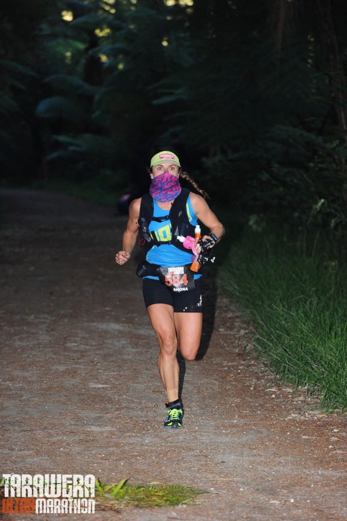 Shona Stephenson wearing the Inov8 Wrag to protect her lungs from cold dry air