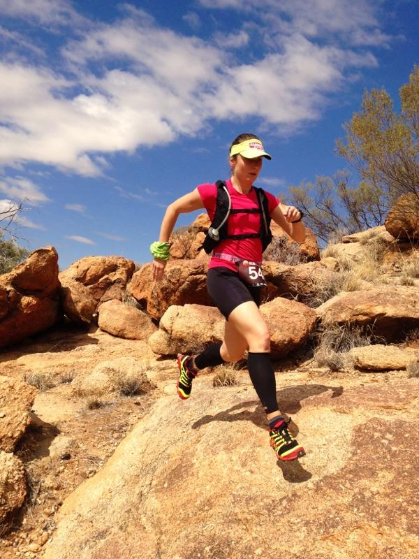 Enjoying a peak at of the trails before tonights first stage of Run Larapinta